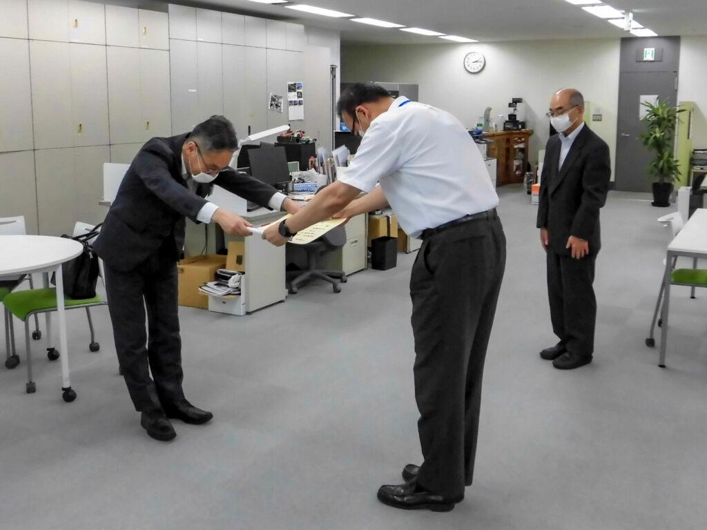 東日本旅客鉄道株式会社様より台風19号被害の復旧で感謝状を授与されました